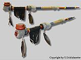 Indianer Friedenspfeife / Pfeife 70cm Tabakpfeife