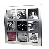 geschenkidee foto uhr mit 9 bilderrahmen. Black Bedroom Furniture Sets. Home Design Ideas